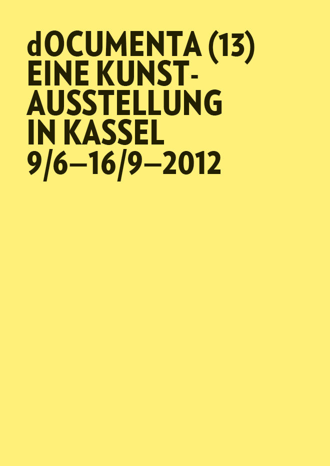 Plakat zur documenta 13 in 2012