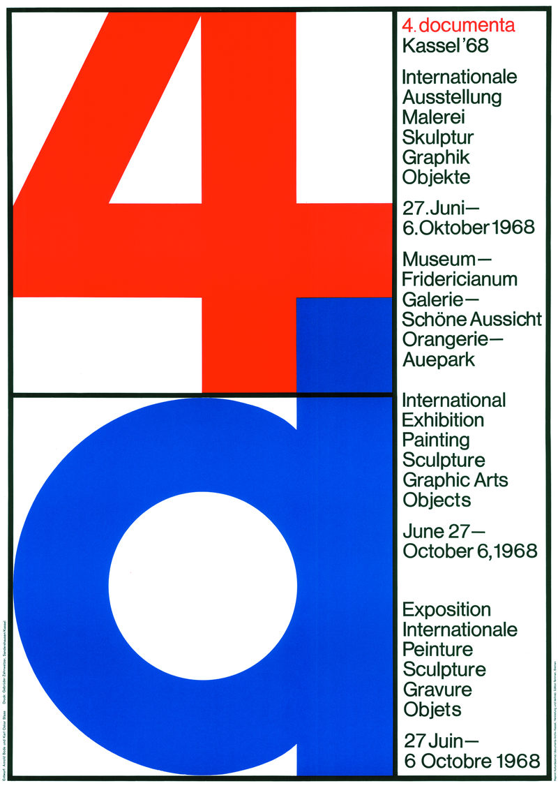 Plakat zur documenta 4 in 1968