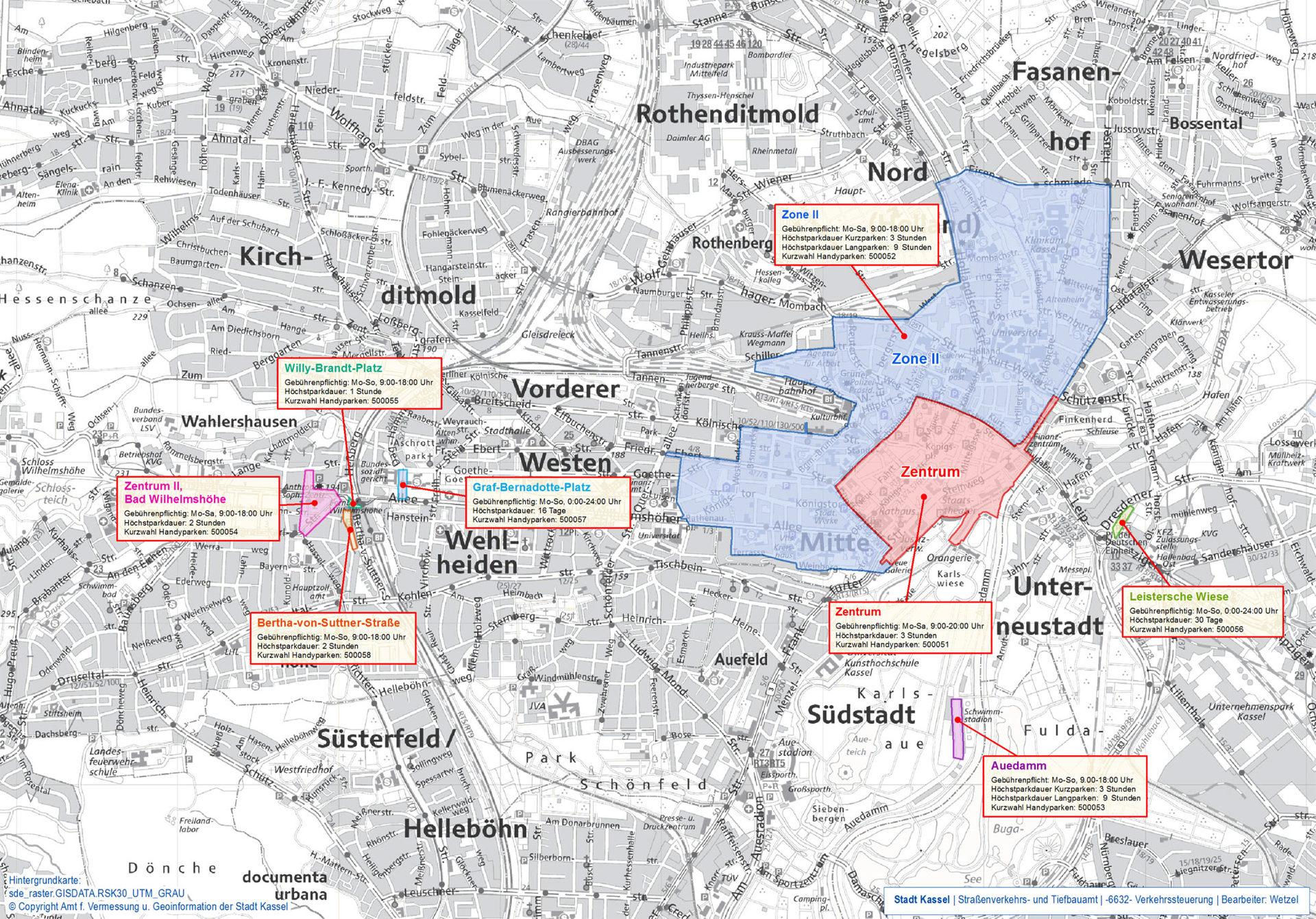 Blitzer Holland Karte.Gebuhrenpflichtige Parkzonen Kassel De Der Offizielle